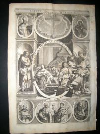 Ribadeneyra 1669 Folio Religious Print. Saints of September